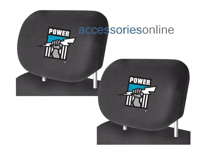 AFL PORT ADELAIDE POWER car Headrest Covers