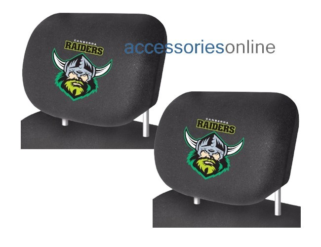 NRL CANBERRA RAIDERS  car Headrest Covers