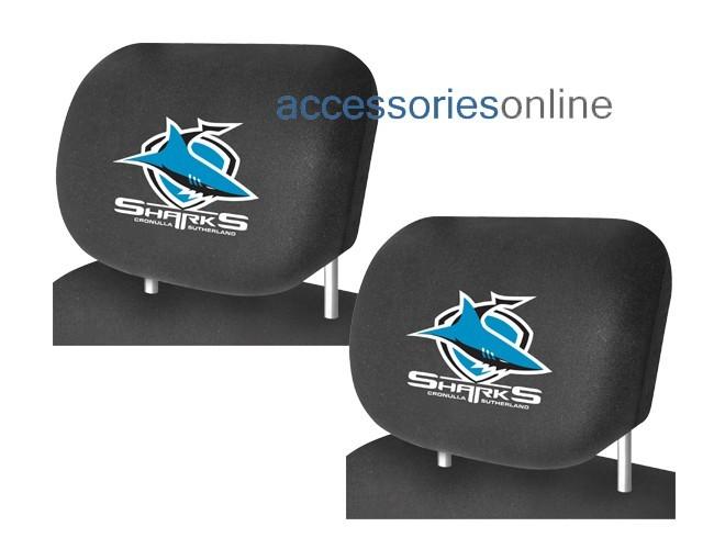 NRL CRONULLA SHARKS car Headrest Covers