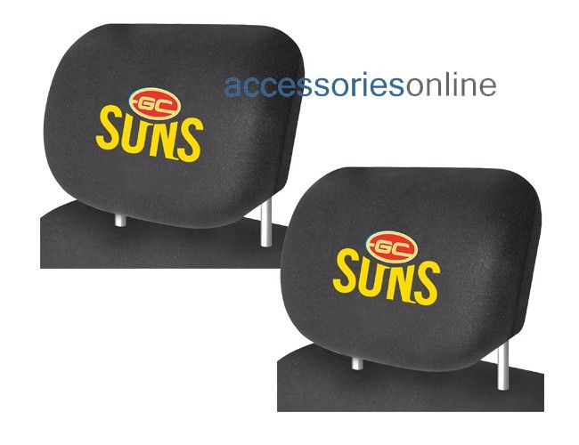 AFL GOLD COAST SUNS car Headrest Covers
