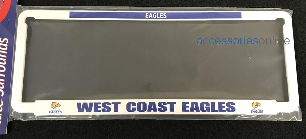AFL WEST COAST EAGLES number plate frame