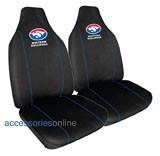 AFL FOOTBALL WESTERN BULLDOGS CAR SEAT COVERS *FREE SHIPPING*