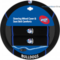 AFL WESTERN BULLDOGS car Steering Wheel & Seat-belt cover SET
