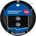 AFL COLLINGWOOD MAGPIES car Steering Wheel & Seat-belt cover SET