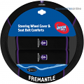 AFL FREMANTLE DOCKERS car Steering Wheel & Seat-belt cover SET