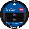AFL FREMANTLE DOCKERS car Steering Wheel & Seat-belt cover SET
