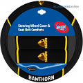 AFL HAWTHORN HAWKS car Steering Wheel & Seat-belt cover SET