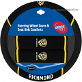 AFL RICHMOND TIGERS car Steering Wheel & Seat-belt cover SET