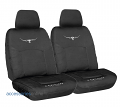 RM WILLIAMS STOCKYARD CANVAS Front car seat covers BLACK *FREE SHIPPING