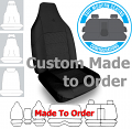 ELITE JACQUARD car seat covers BLACK Size CUSTOM MADE *Free Shipping