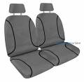 KAKADU POLY CANVAS Front car seat covers CHARCOAL *Free Shipping
