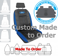 FORD LEATHER LOOK car seat covers BLACK Size CUSTOM MADE