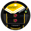 NRL BRISBANE BRONCOS car Steering Wheel & Seat-belt cover SET