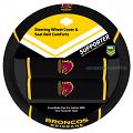NRL BRISBANE BRONCOS car Steering Wheel & Seat-belt cover SET