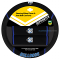 NRL CANTERBURY BULLDOGS car Steering Wheel & Seat-belt cover SET