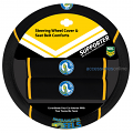 NRL PARRAMATTA EELS car Steering Wheel & Seat-belt cover SET