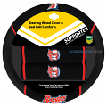 NRL SYDNEY ROOSTERS car Steering Wheel & Seat-belt cover SET