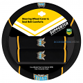 NRL GOLD COAST TITANS car Steering Wheel & Seat-belt cover SET