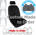 Getaway NEOPRENE car seat covers BLACK with SILVER STITCH Size CUSTOM MADE *Free Shipping