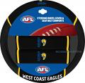 AFL WEST COAST EAGLES car Steering Wheel & Seat-belt cover SET