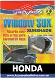HONDA WINDOW SOX ® CAR WINDOW SUN SHADES