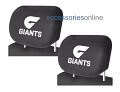 AFL GWS GIANTS car Headrest Covers