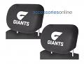 AFL GWS GIANTS car Headrest Covers
